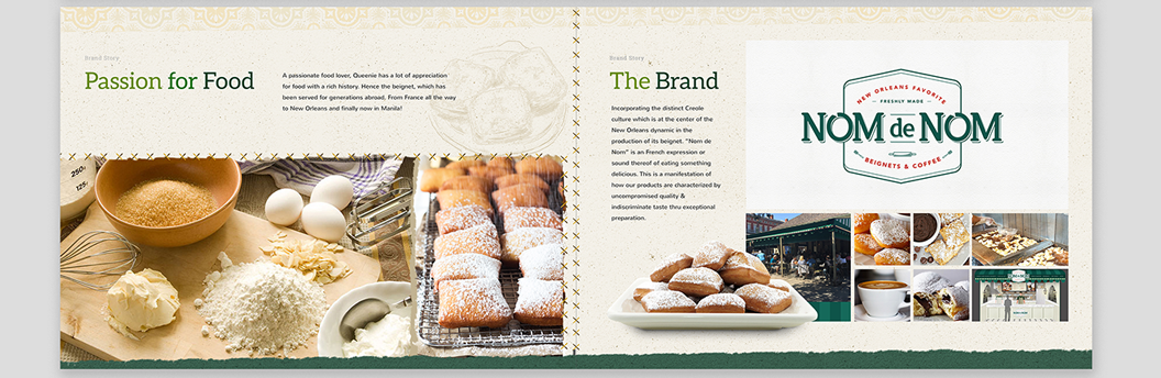Nom de Nom, Beignet, Coffee, New Orleans, Freshly Made, Branding, Identity, Graphic Design, Marc Ruiz