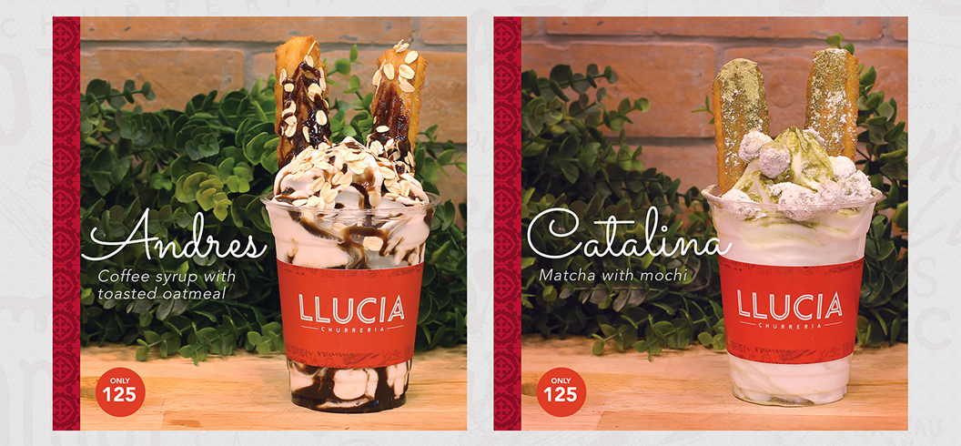LLucia, Llucia Churreria, Churros, Soft Serve, Alabang, Branding, Design, Packaging, Facebook, Graphic Design, Marc Ruiz