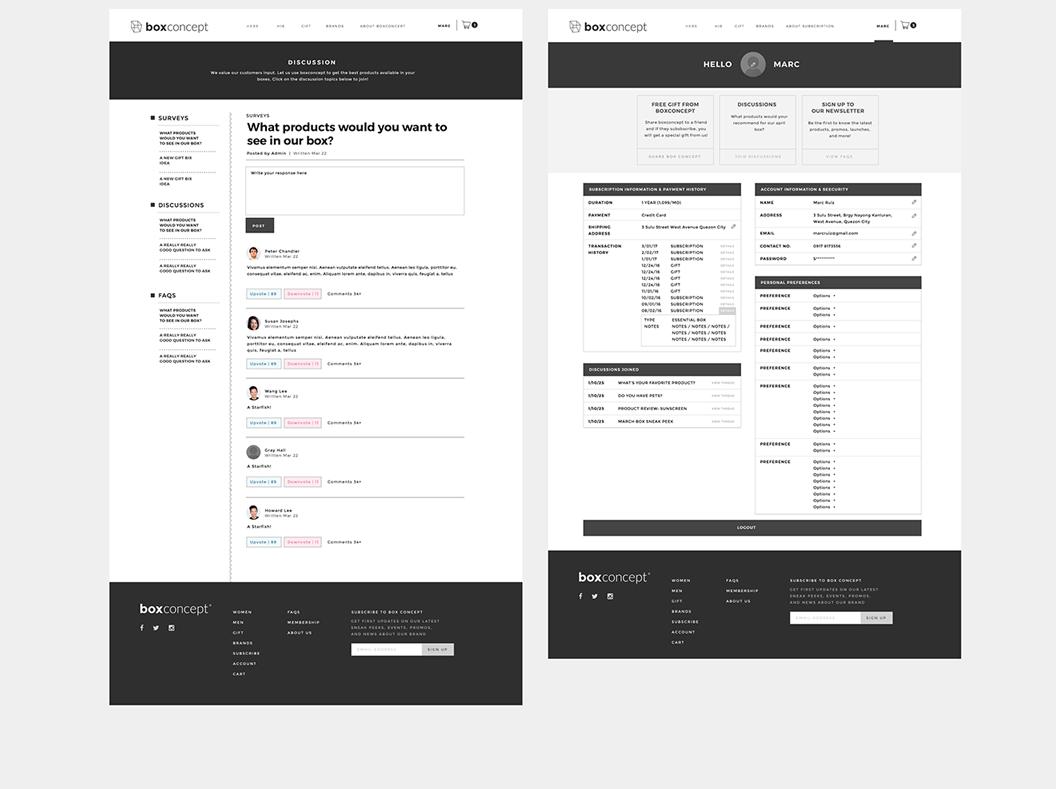 Boxconcept, Branding, Identity, Website Design, Graphic Design, Subscription, Box Subscription, Box, Marc Ruiz, Packaging,